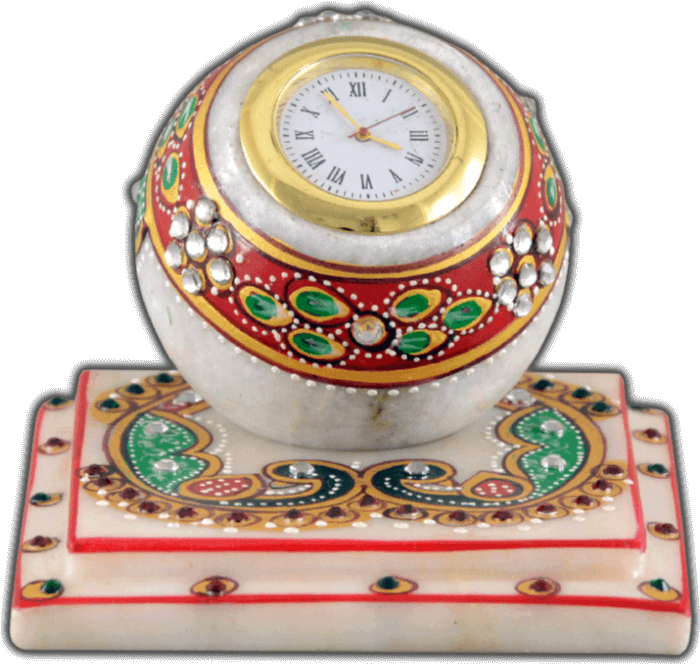Traditional & Marble Gifts - MG-Marble flower painting square watch
