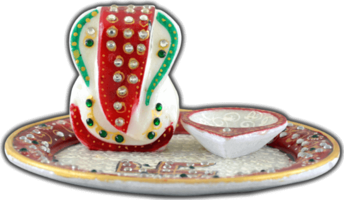 test Traditional & Marble Gifts - MG-Ganpati marble thali