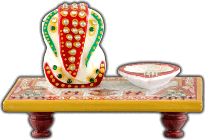 test Traditional Gifts - TG-Ganpati chowki with diya
