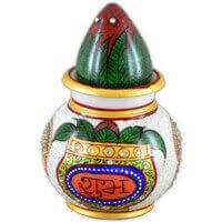 Traditional & Marble Gifts - MG-Marble kalash nariyal subh labh