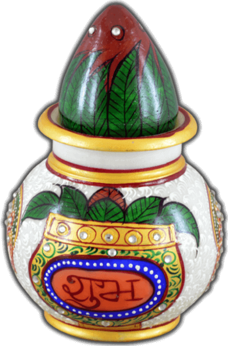 Traditional Gifts - TG-Marble kalash nariyal subh labh