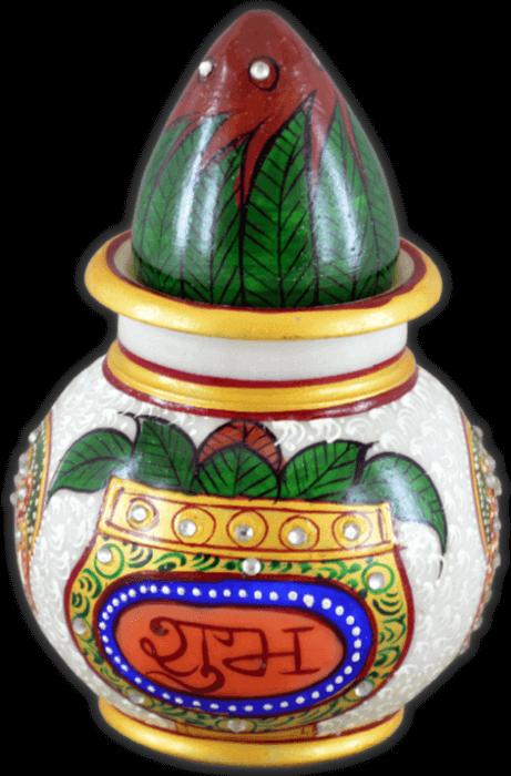 Traditional Gifts - TG-Marble kalash nariyal subh labh