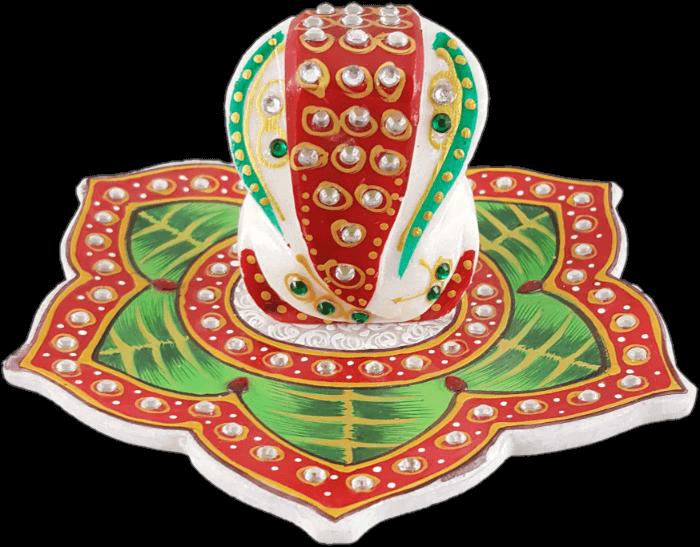 test Traditional Gifts - TG-Marble leaf Ganesh choki