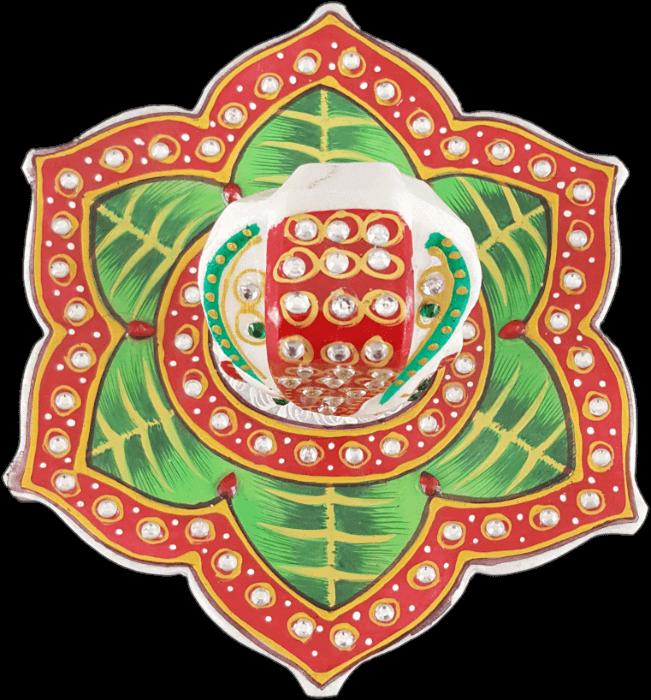 Traditional Gifts - TG-Marble leaf Ganesh choki - 3
