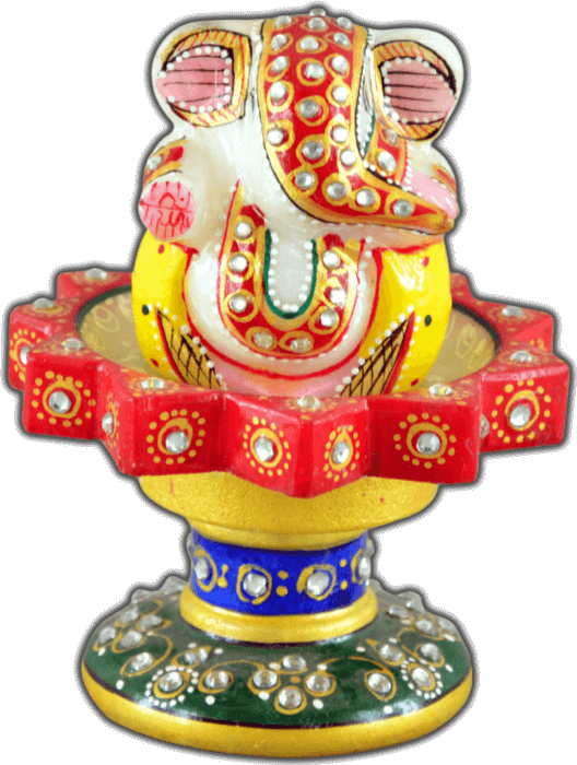 test Traditional Gifts - TG-Marble star revolving chowki