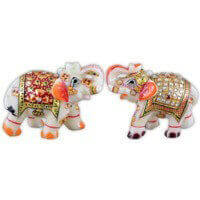 Traditional & Marble Gifts - MG-Marble elephant