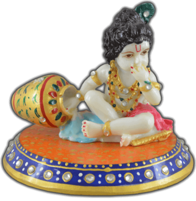 test Traditional Gifts - TG-Marble chowki laddu Gopal