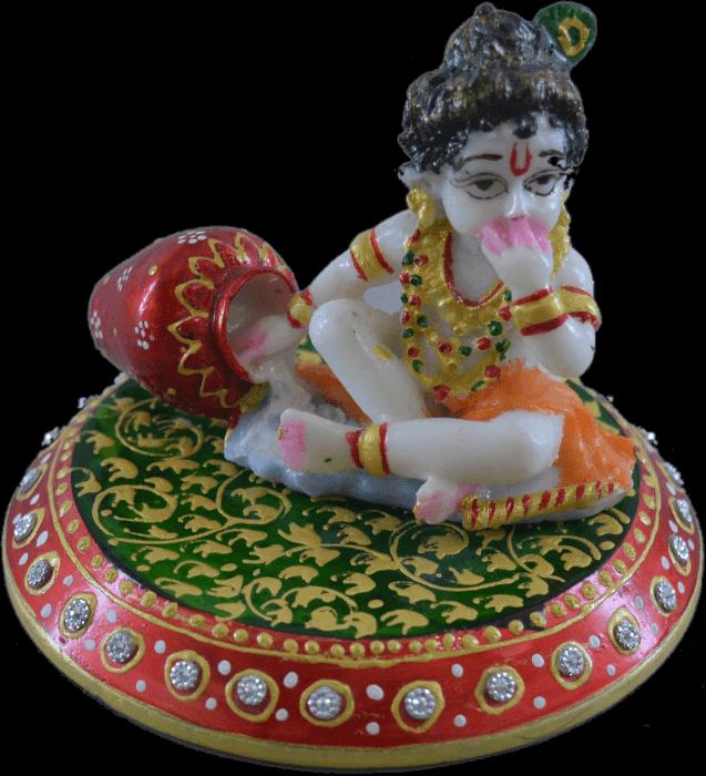 test Traditional Gifts - TG-Marble choki laddu Gopal