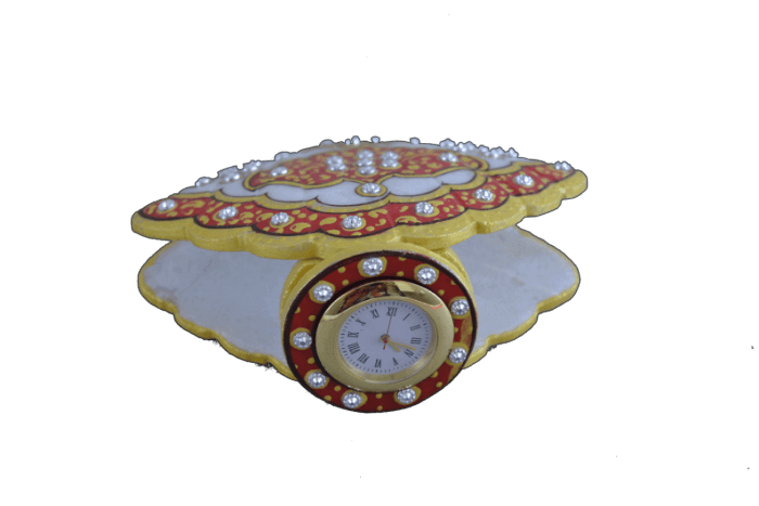 Traditional & Marble Gifts - MG-Marble shell shape watch desk watch