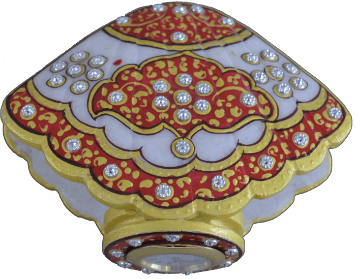 Traditional & Marble Gifts - MG-Marble shell shape watch desk watch - 3