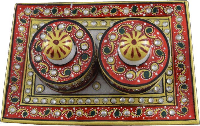 Traditional & Marble Gifts - MG-Marble supari tray set - 3