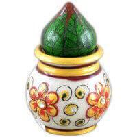 Traditional & Marble Gifts - MG-Marble flower nariyal kalash