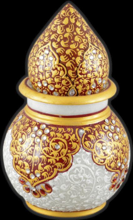 test Traditional & Marble Gifts - MG-Marble nariyal kalash