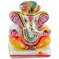 Traditional Gifts - TG-Marble pagdi art Ganesh