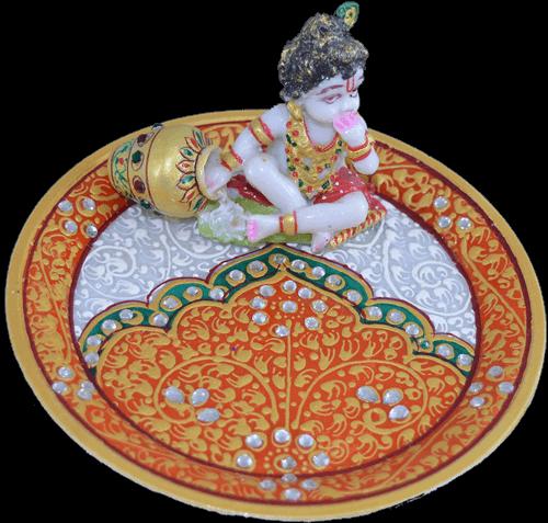 Pooja Thali - PT-Marble ladoo Gopal pooja thali 2