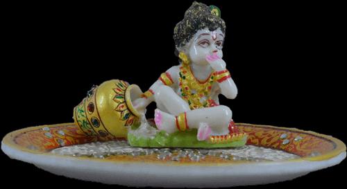 Pooja Thali - PT-Marble ladoo Gopal pooja thali 2 - 3