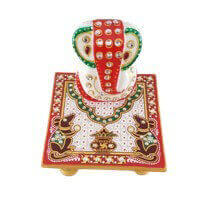 Traditional & Marble Gifts - MG-Ganpati chowki mouse