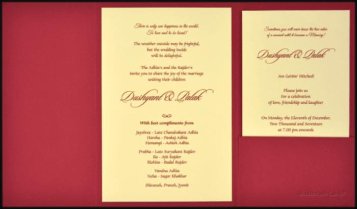 Custom Wedding Cards - CZC-9491 - 3