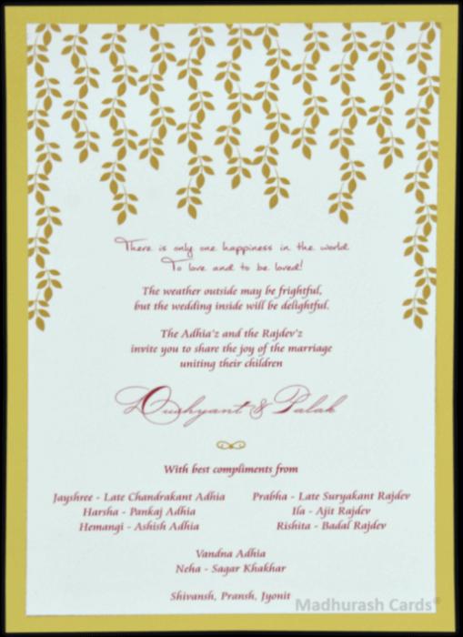 Customized Wedding Invitations - CZC-9534 - 3