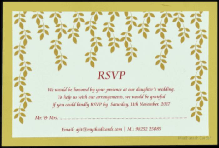 Customized Wedding Invitations - CZC-9534 - 4