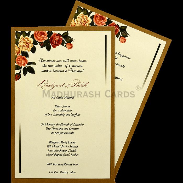 Custom Wedding Cards - CZC-9463 - 4