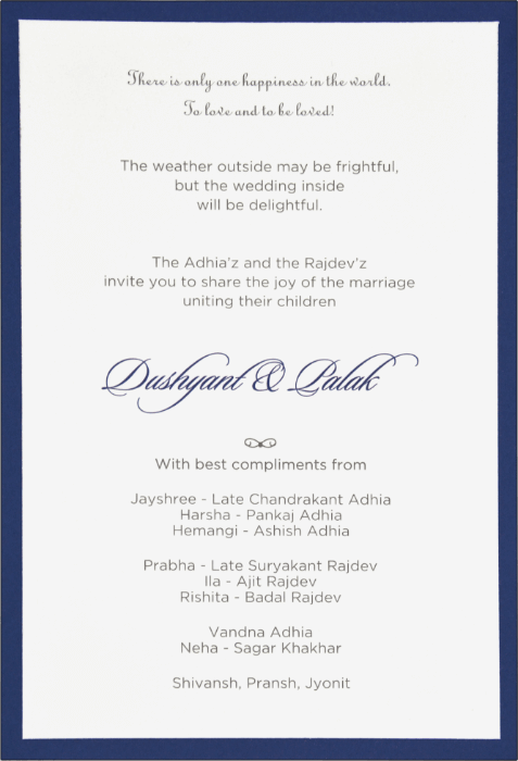 Customized Wedding Invitations - CZC-9552
