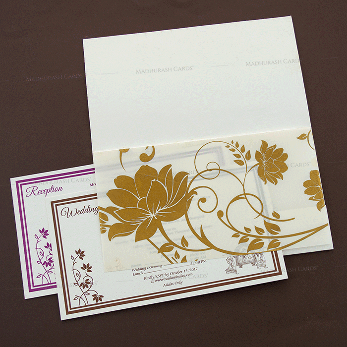 Hindu Wedding Cards - HWC-14128 - 4