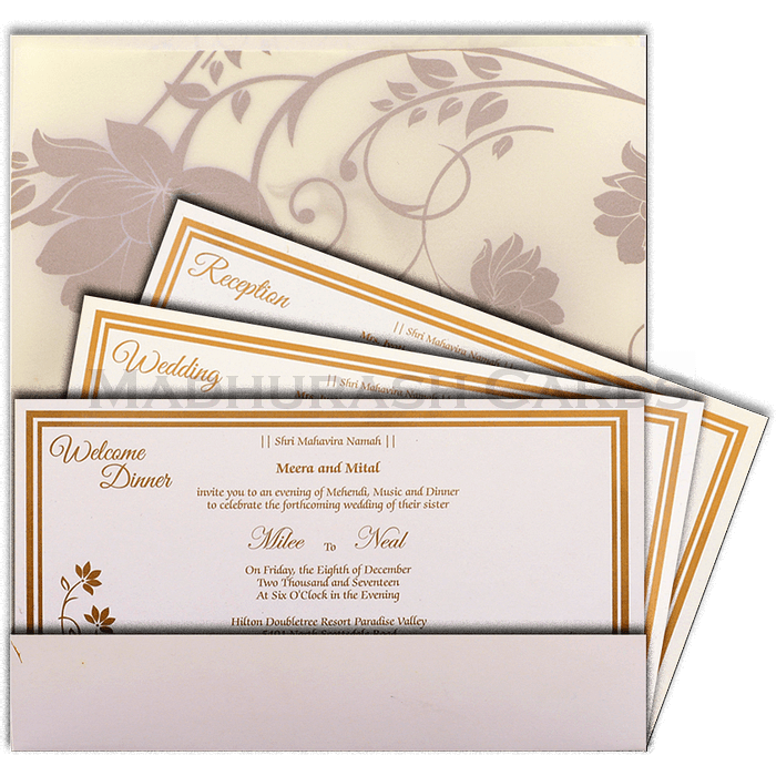 Hindu Wedding Cards - HWC-14128 - 5