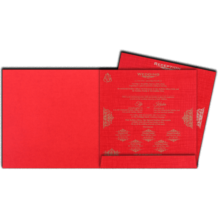 Hindu Wedding Cards - HWC-17115 - 3