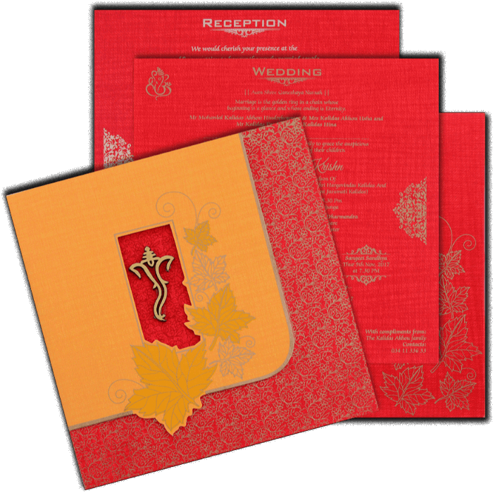 Hindu Wedding Cards - HWC-17115 - 5
