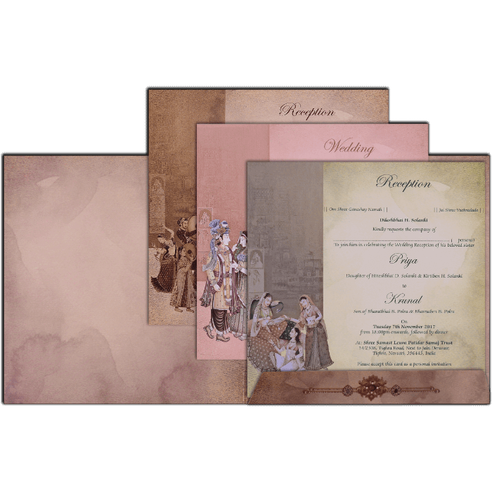 Hindu Wedding Cards - HWC-17137 - 3