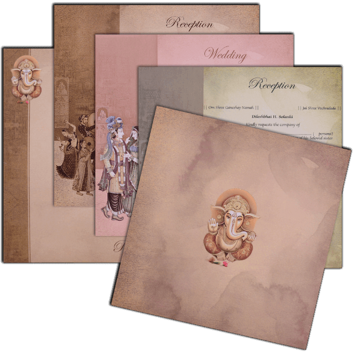 Hindu Wedding Cards - HWC-17137 - 4