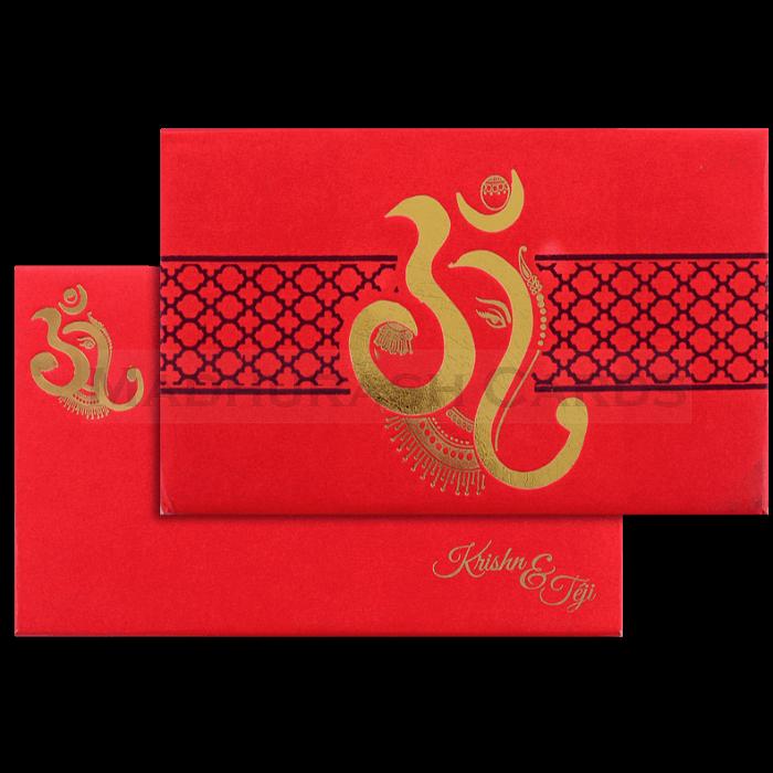 test Hard Bound Wedding Cards - HBC-17156