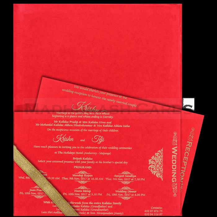 Hard Bound Wedding Cards - HBC-17156 - 4