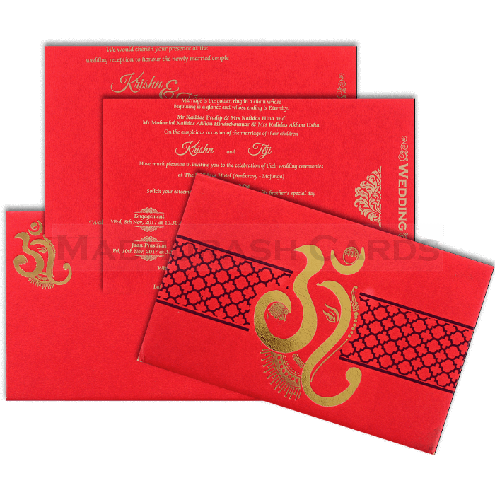 Hard Bound Wedding Cards - HBC-17156 - 5