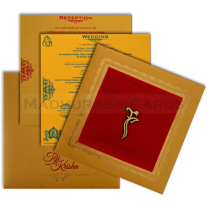 Hindu Wedding Cards - HWC-17145 - 4