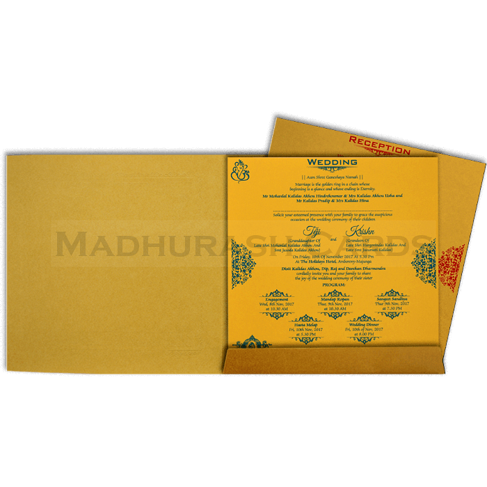 Hindu Wedding Cards - HWC-17145 - 5