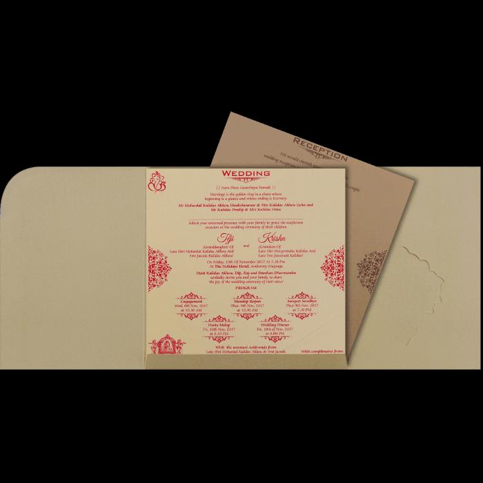 Muslim Wedding Cards - MWC-17163 - 3