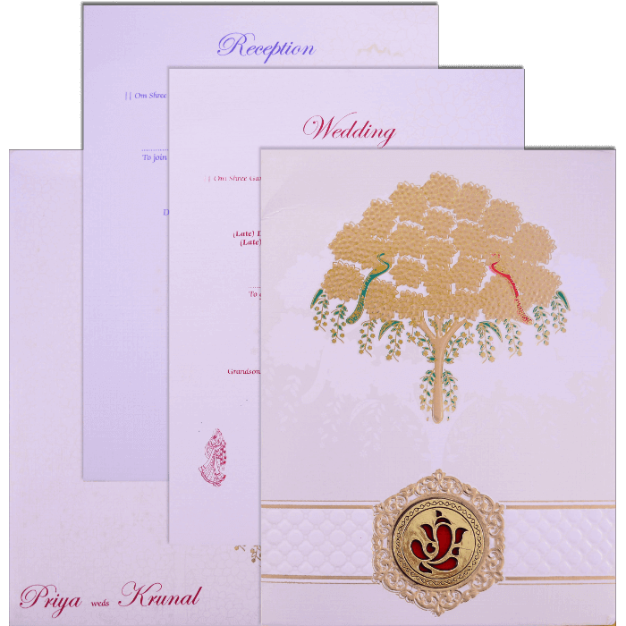 Hindu Wedding Cards - HWC-17169 - 5