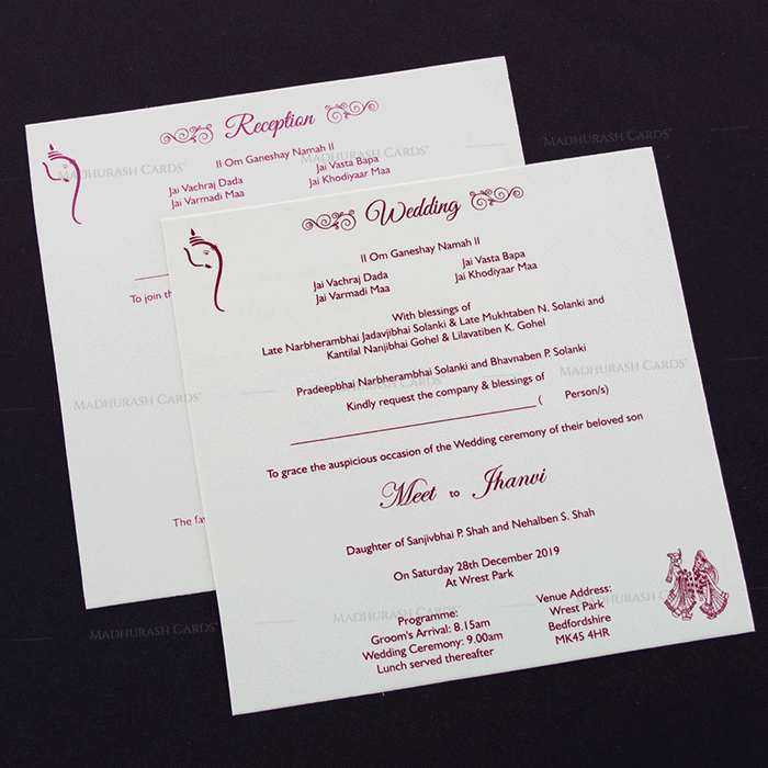 Hindu Wedding Cards - HWC-17286 - 4