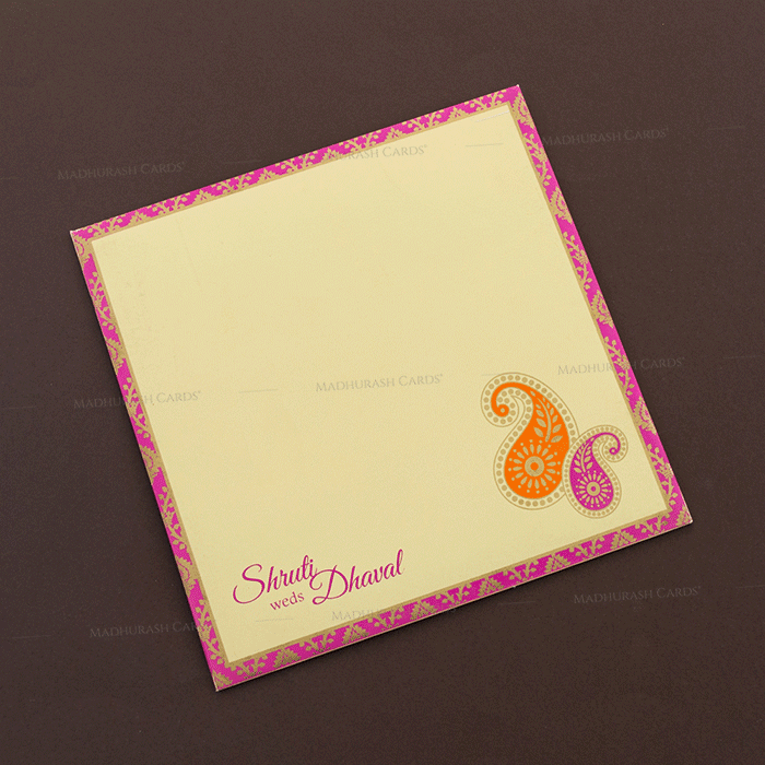 Muslim Wedding Cards - MWC-17138 - 3