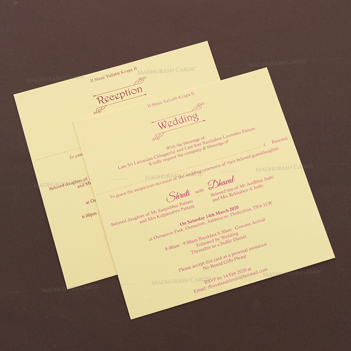 Hindu Wedding Cards - HWC-17138 - 4
