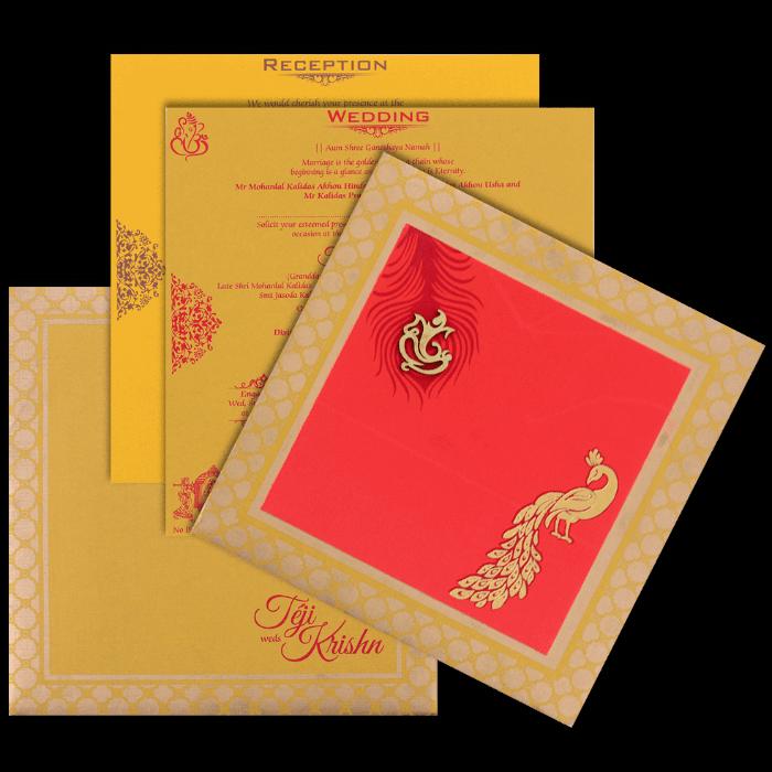 Hindu Wedding Cards - HWC-17148 - 5
