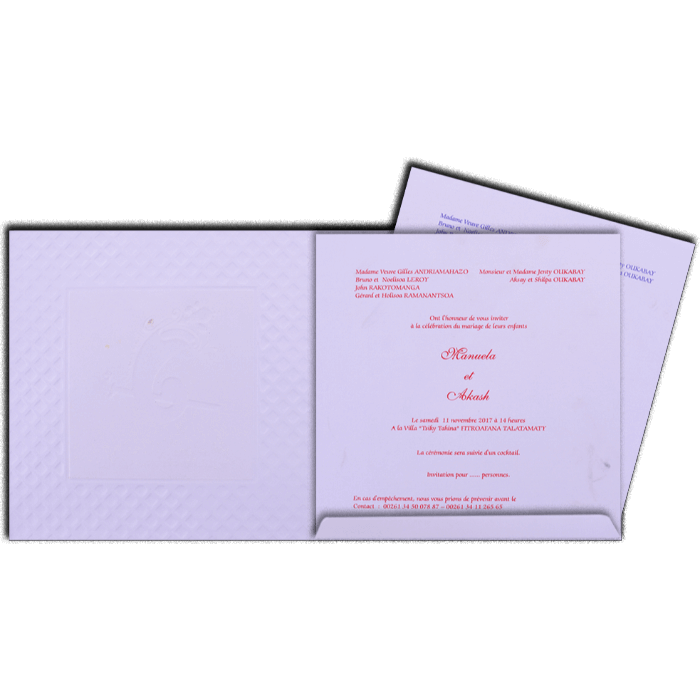 Hindu Wedding Cards - HWC-17226 - 3