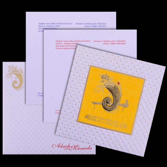 Hindu Wedding Cards - HWC-17226 - 5