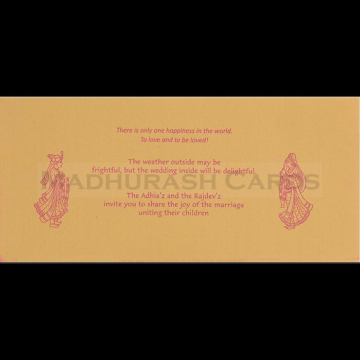 Hindu Wedding Cards - HWC-14145 - 5