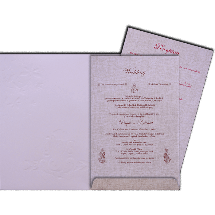 Hindu Wedding Cards - HWC-17176 - 3