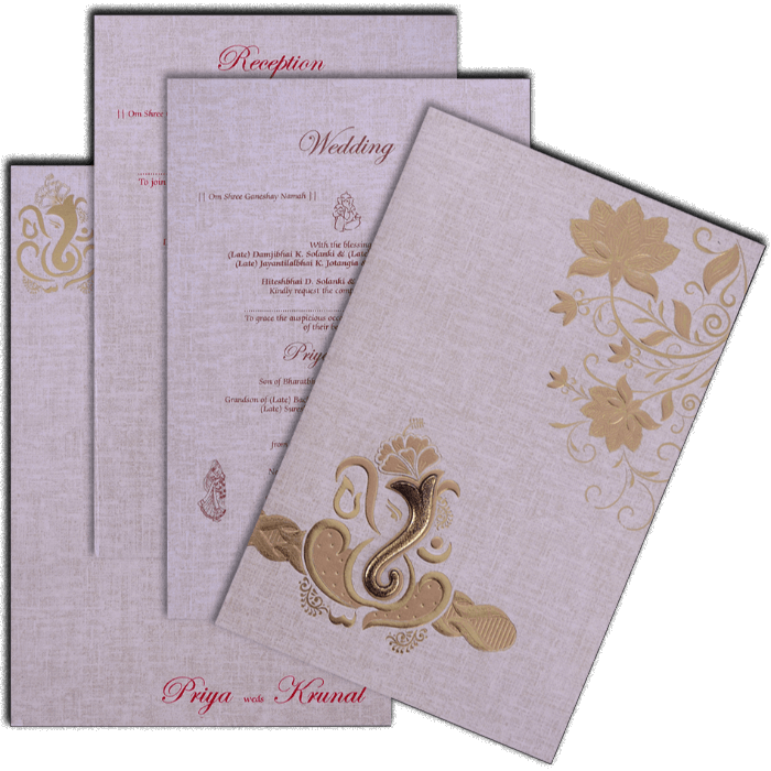 Hindu Wedding Cards - HWC-17176 - 5