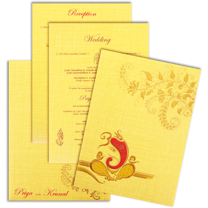 Hindu Wedding Cards - HWC-17158 - 5