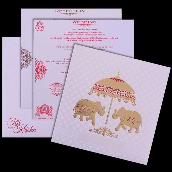 Muslim Wedding Cards - MWC-17202 - 5